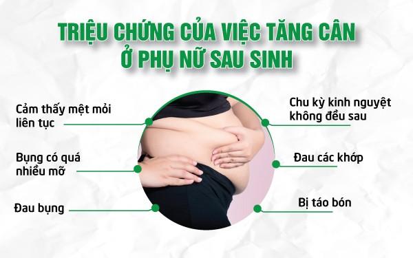 Triệu chứng của việc tăng cân của phụ nữ sau sinh