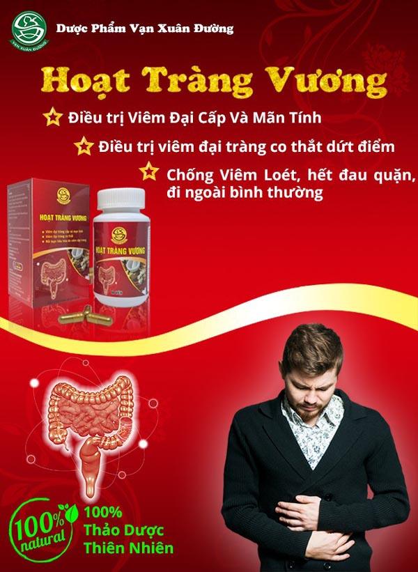 Sản phẩm chữa viêm đại tràng Hoạt Tràng Vương