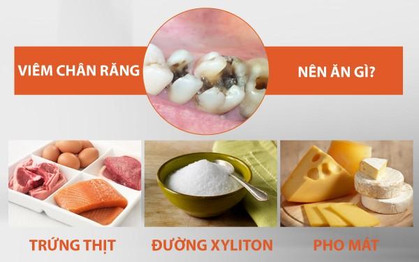 viêm chân răng nên ăn gì