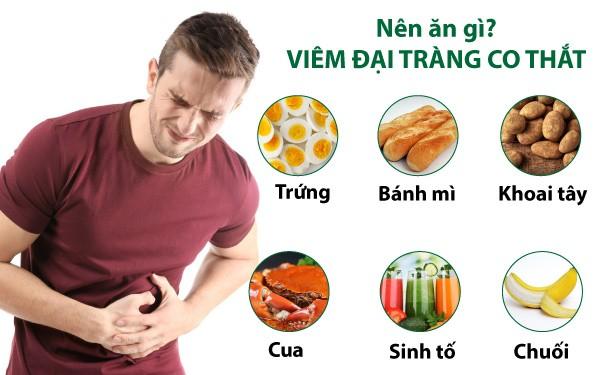 Viêm đại tràng co thắt nên ăn gì